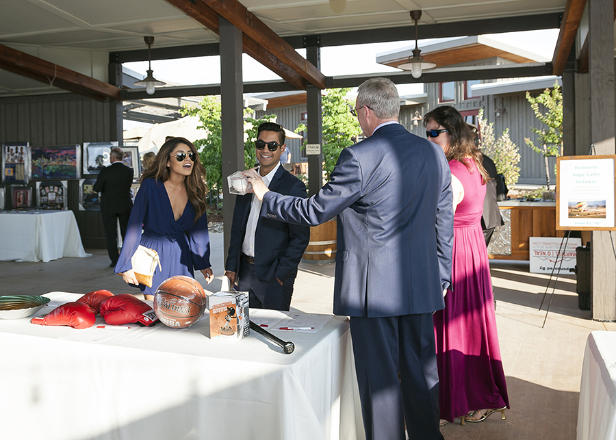 Previewing Silent Auction Items Sutter Care At Home Gala Event